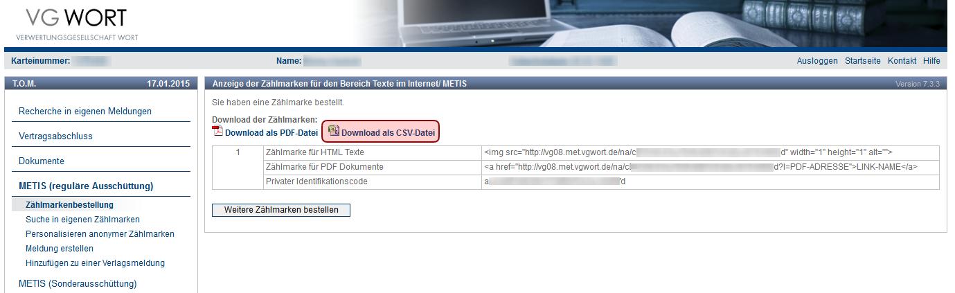 Download CSV-Datei