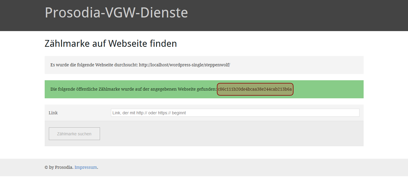 Prosodia-VGW-Dienste